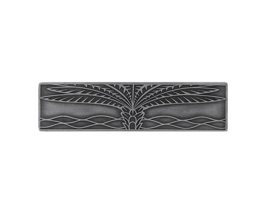 """Inviting Home - Horizontal Royal Palm Pull (antique pewter) - Hand-cast Horizontal Royal Palm Pull in antique pewter finish; 4""""W x 1""""H; Product Specification: Made in the USA. Fine-art foundry hand-pours and hand finished hardware knobs and pulls using Old World methods. Lifetime guaranteed against flaws in craftsmanship. Exceptional clarity of details and depth of relief. All knobs and pulls are hand cast from solid fine pewter or solid bronze. The term antique refers to special methods of treating metal so there is contrast between relief and recessed areas. Knobs and Pulls are lacquered to protect the finish."""