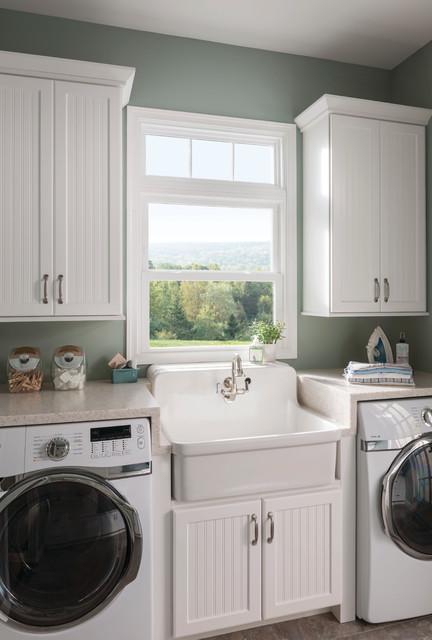Laundry Room Window: Double Hung - Contemporary - Windows - chicago - by Feldco Windows, Siding ...