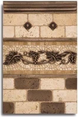 kitchen backsplash metal tiles and decorative accents