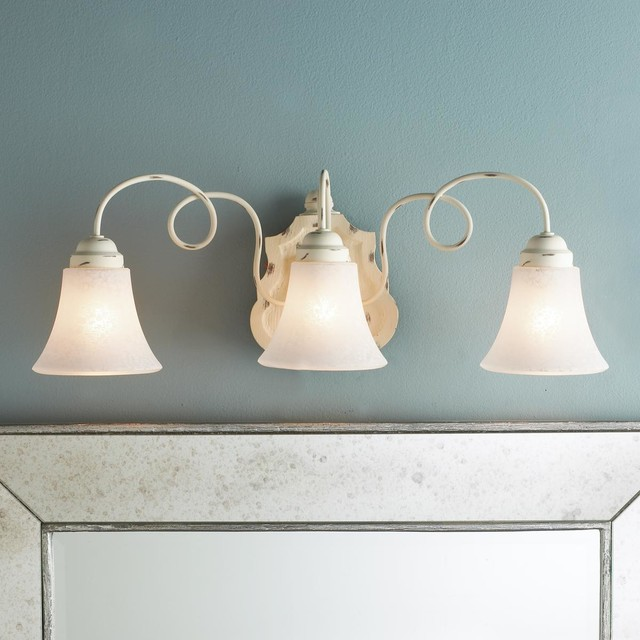 Cottage Bathroom Wall Lights : Cottage Chic Bath Light - 3 Light - Lamp Shades - by Shades of Light