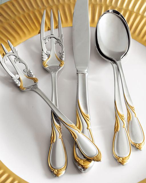 Yamazaki Tableware 20 Piece Cache Stainless Steel Flatware Servic