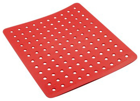 Kitchen Sink Mats : Coza- Strong Durable Sink Mat, Red - Modern - Kitchen Sink Accessories ...