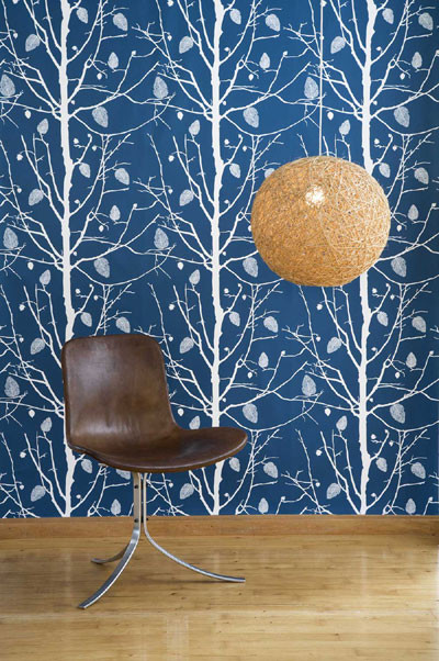 Family Tree Wallpaper by Ferm Living eclectic wallpaper