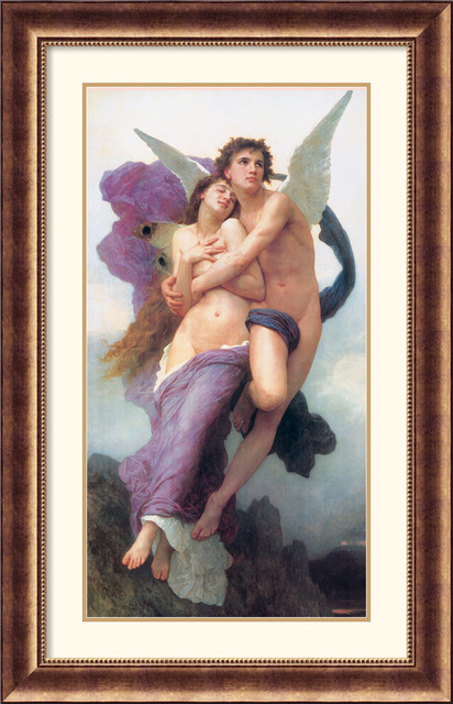 Ravishment of Psyche Framed Print by William-Adolphe Bouguereau traditional-prints-and-posters