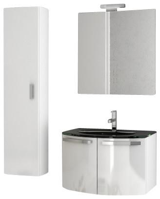 inch glossy white bathroom vanity set contemporary bathroom vanities
