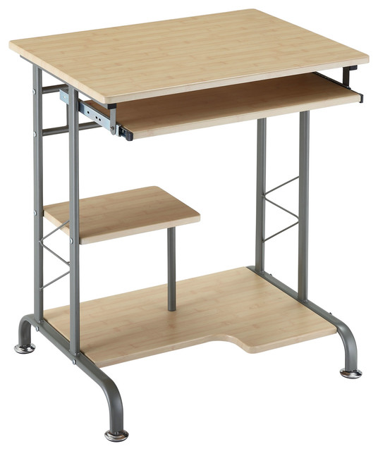 -Living Space Saver Computer Desk in Natural Finish - Modern - Desks ...