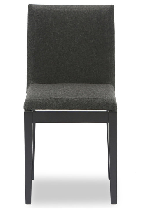 Bryght - Square Fabric Upholstered Ebony Dining Chair - The Square dining chair's perfection lies in its flawless straight lines and unique seat design. You can be assured of a comfortable sit any time of the day with the Square dining chair's padded seat and back rest.