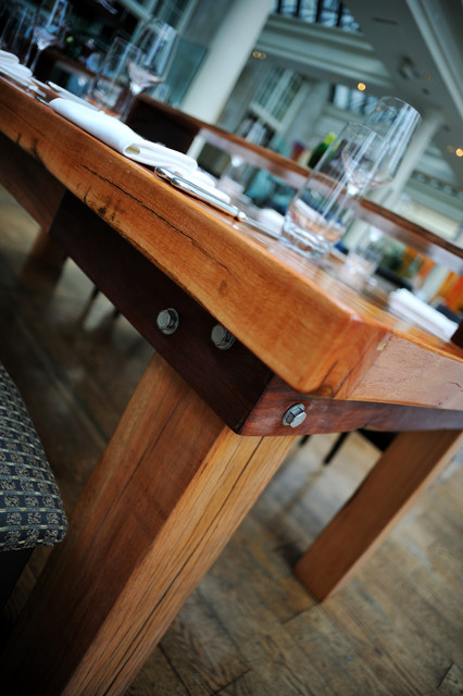 Railway Sleeper Table Contemporary Dining Tables