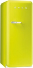 50s Retro Style Aesthetic Refrigerator, Lime Green eclectic