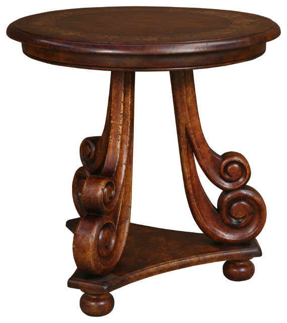 30 Jolie Round Occasional Table Traditional Side