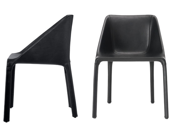Poliform Manta chair - Manta, design by Rodrigo Torres, is a wrapping chair, which invites to have a seat. Totally upholstered and covered in leather, it is a chair of great personality, which matches with important table or give worth to stylistically simple tables.