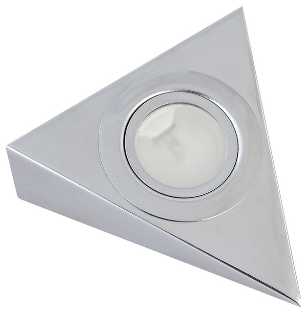 Arlec 3 X 20W Chrome Triangle Halogen Puck Light