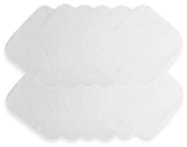 Neat Solutions 12-Pack Solid White Washcloth Set contemporary-bath-towels