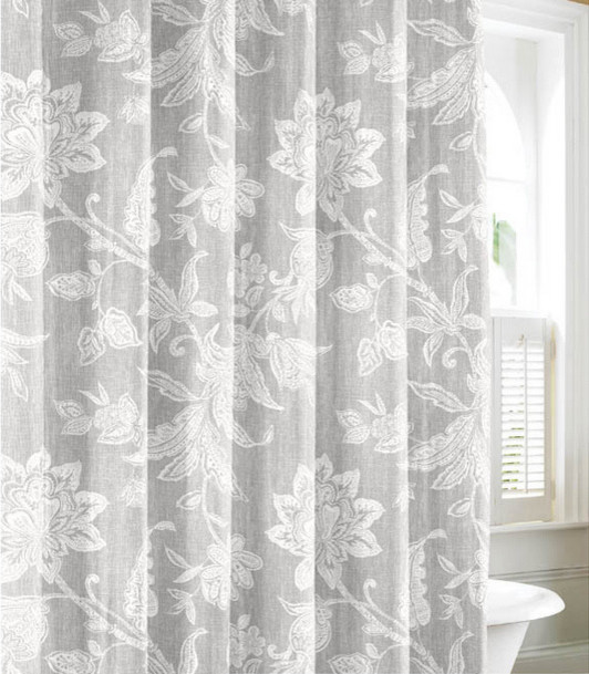 tommy bahama bali gray cotton shower curtain