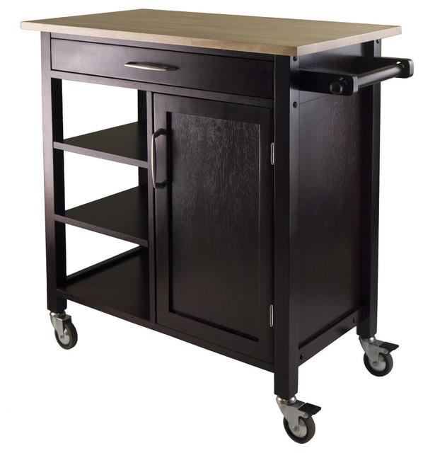 mali kitchen cart espresso finish modern