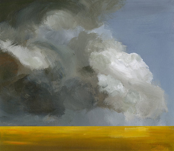 Field Before the Storm Archival Landscape Print by Amber Alexander contemporary artwork