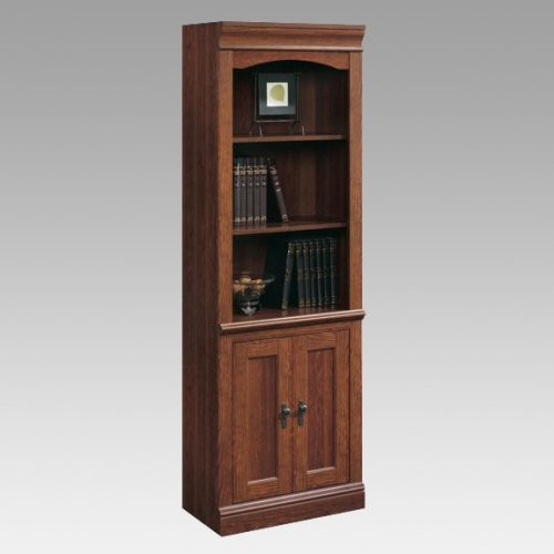 Sauder Camden County Library Bookcase with Doors ...
