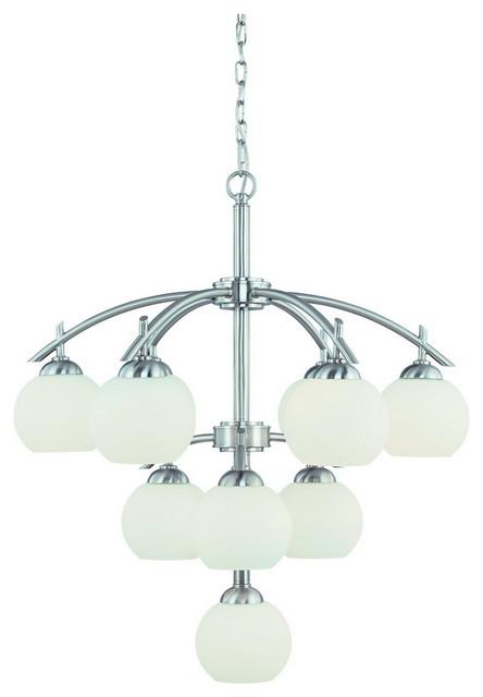 Dolan Designs 2872-09 Cathedral Satin Nickel 10 Light Chandelier contemporary-chandeliers