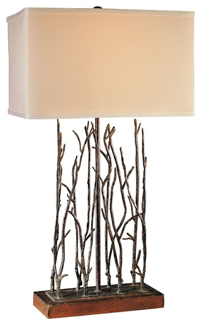 iron ambience black and wood tree branches table lamp traditional table lamps by lamps plus. Black Bedroom Furniture Sets. Home Design Ideas
