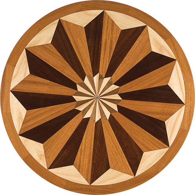 Oshkosh designs bellevue inlay medallion traditional for Wood floor medallion designs