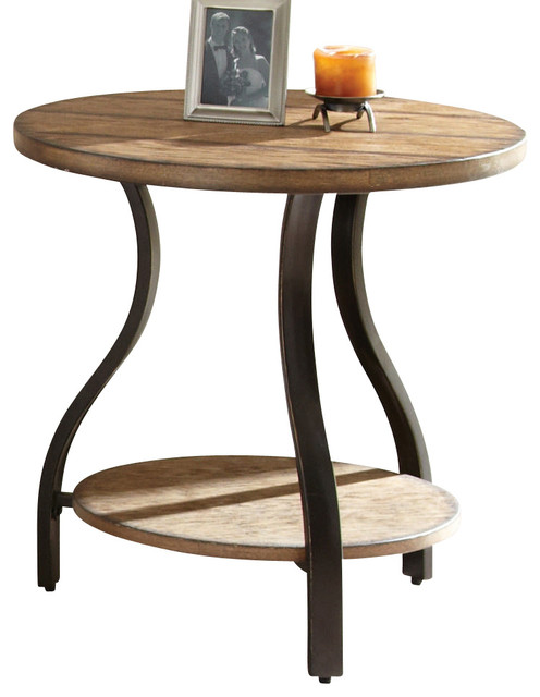 Steve Silver Denise 24 Inch Round End Table contemporary-side-tables-and-end-tables