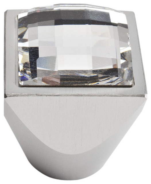 Atlas Homewares 3196 Crystal 0.98-Inch Square Large Crystal Knob - Contemporary - Cabinet And ...