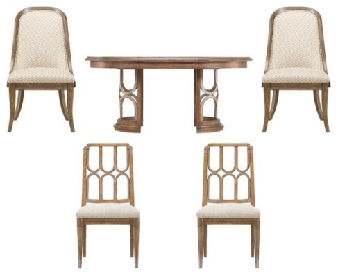Stanley Archipelago Monserrat 5 Piece Round Dining Set - Shoal with Bequia Chair modern-dining-tables