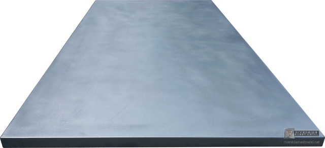 Zinc counter tops cambridge modern kitchen for Zinc countertop cost