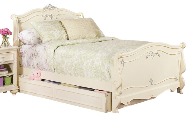 Lea Jessica McClintock Sleigh Bed In Antique White
