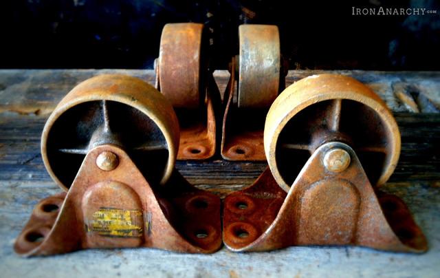 Vintage Casters Industrial Home Improvement Los
