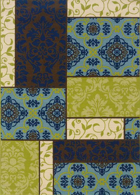 """Sphinx Caspian 3066V Indoor/Outdoor Polypropylene Area Rug 2'5"""" x 4'5"""" contemporary-rugs"""