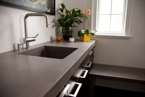 Concrete Countertop Contemporary Kitchen Countertops Other Metro By Jm Lifestyles