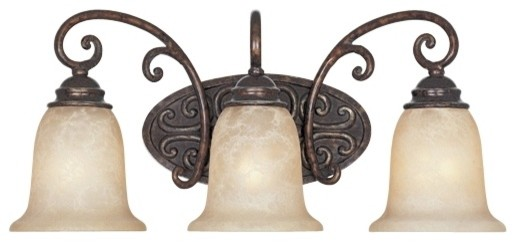 "Country - Cottage Amherst Collection Burnt Umber 22"" Wide Bathroom Wall Lig traditional wall sconces"