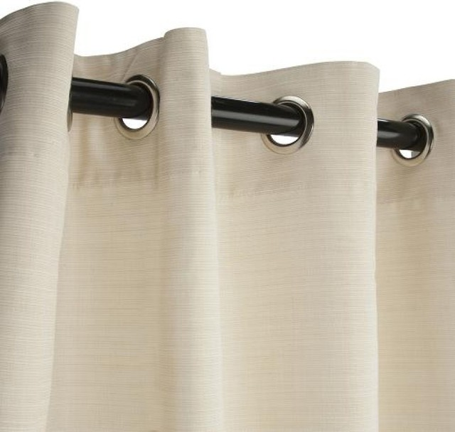 Sunbrella Outdoor Curtain With Grommets Dupione Pearl Contemporary Curtains By Hammock