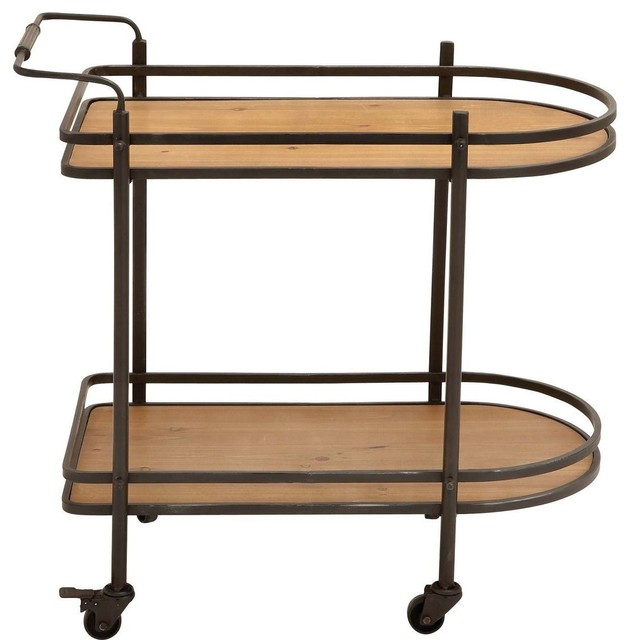 Tea Cart with Versatile and Functional Design traditional-kitchen-islands-and-kitchen-carts