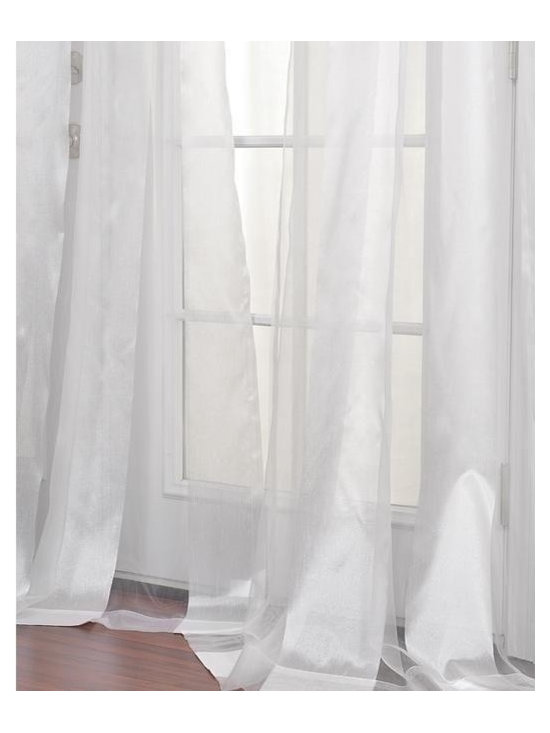 White Striped 96-inch Sheer Curtain Panel - Flowing curtains are very romantic.