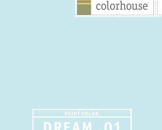 Colorhouse DREAM .01 - Colorhouse DREAM .01: Powdery soft, clean, and crisp like a winter morning sky. Use in bathrooms, bedrooms, and ceilings.
