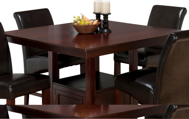 Jofran Tessa Chianti Square Counter Height Table with  : traditional dining tables from www.houzz.com size 640 x 404 jpeg 53kB