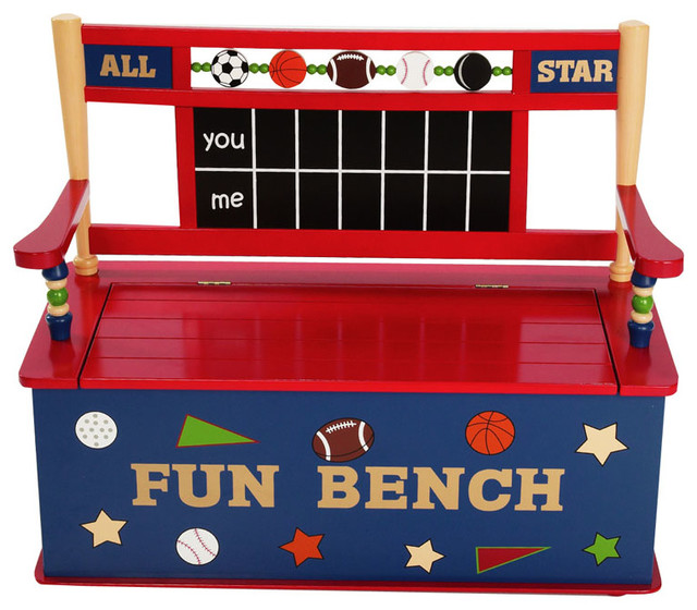All Star Sports Bench Seat with Storage transitional-kids-storage-benches-and-toy-boxes