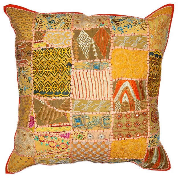 Indian decor handmade cushion pillow covers - Traditional - Decorative Pillows