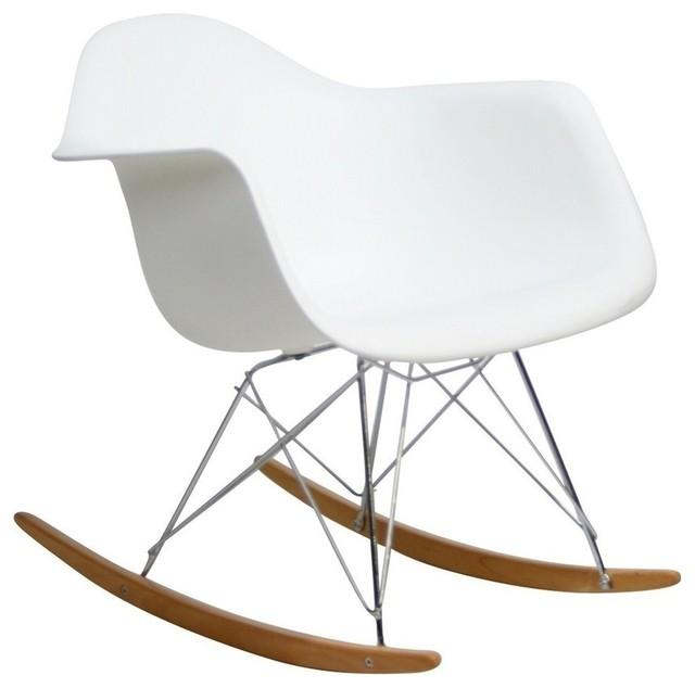 Modern white plastic rocking chair Boden midcentury-rocking-chairs