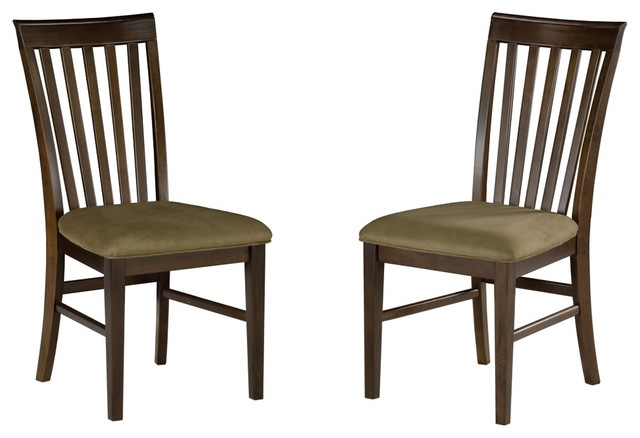 Mission Curved Back Dining Chair - Set of 2 ( craftsman-dining-chairs