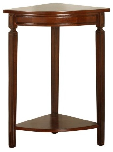 Powell Corner Accent Table - Mahogany traditional-side-tables-and-end-tables