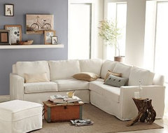 Henry Slipcovered Sectional eclectic-sectional-sofas