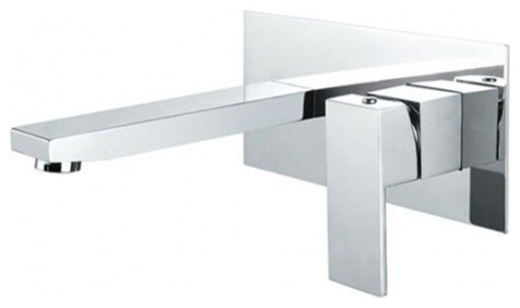 JollyHome Wall Mounted Contemporary Basin Faucet for Bathroom modern-bathroom-faucets