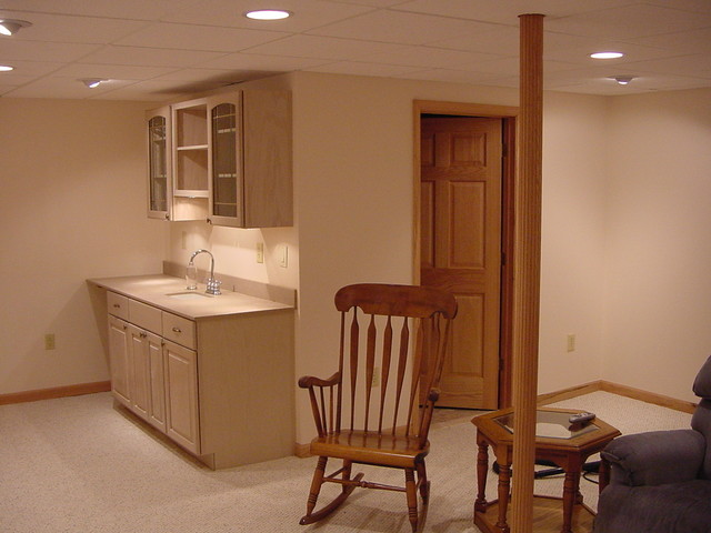 Full basement remodel traditional