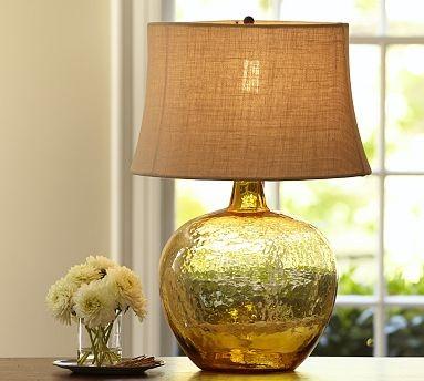 clift glass jug table lamp base amber traditional. Black Bedroom Furniture Sets. Home Design Ideas
