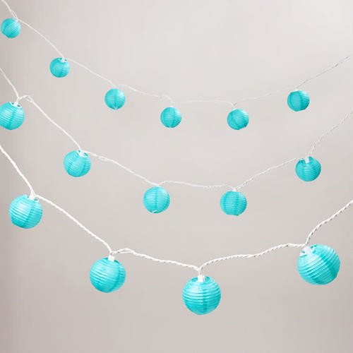 Turquoise Paper 10-bulb String Lights - Contemporary - Outdoor Rope And String Lights - by Cost ...