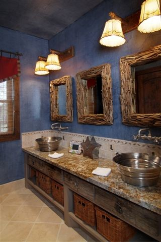Boys bathroom of hunting ranch by design house inc for Design house inc