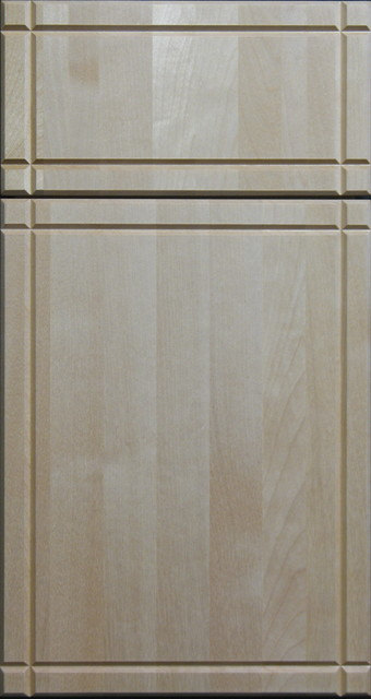 Solid Clear Birch Cabinet Door With V Grooves Contemporary Other Metro By Style Line